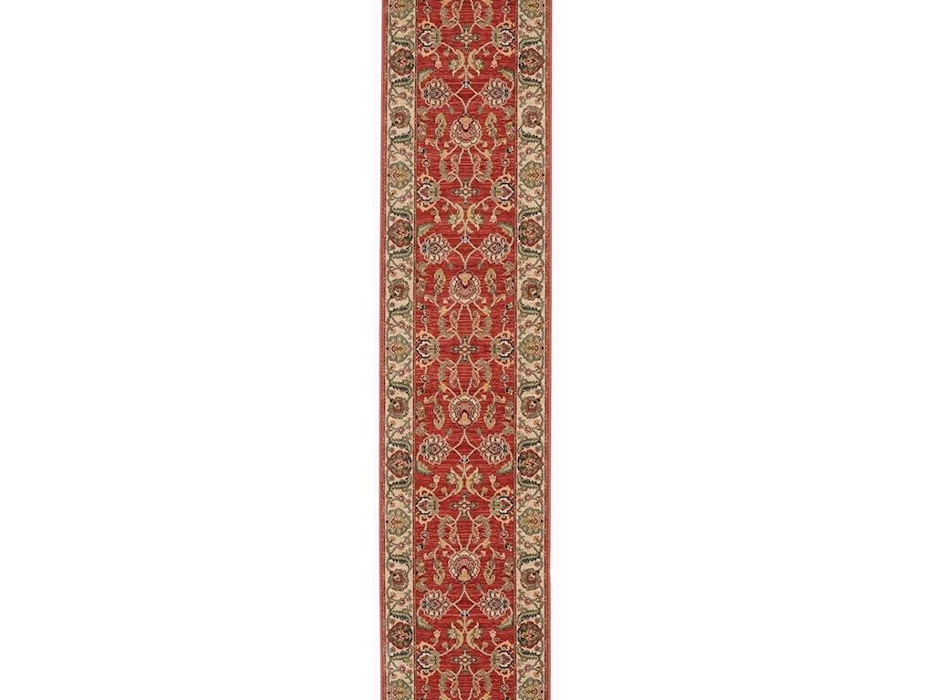 Karastan Rugs Ashara4'3x6' Agra Red Rug