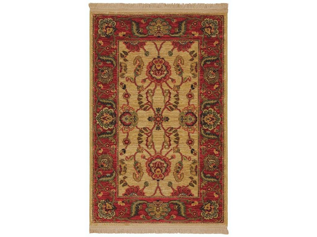 Karastan Rugs Ashara2'6x4' Agra Ivory Rug