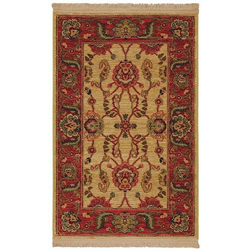 Karastan Rugs Ashara 4'3x6' Agra Ivory Rug