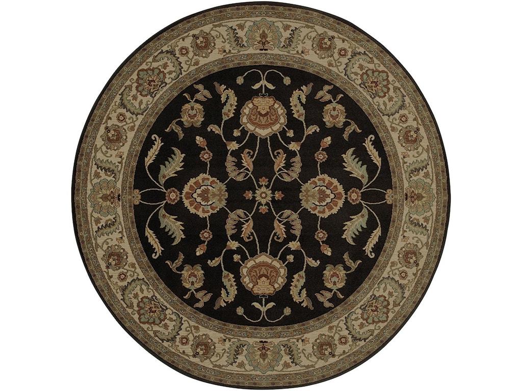 Karastan Rugs Ashara5'9x9' Agra Black Rug