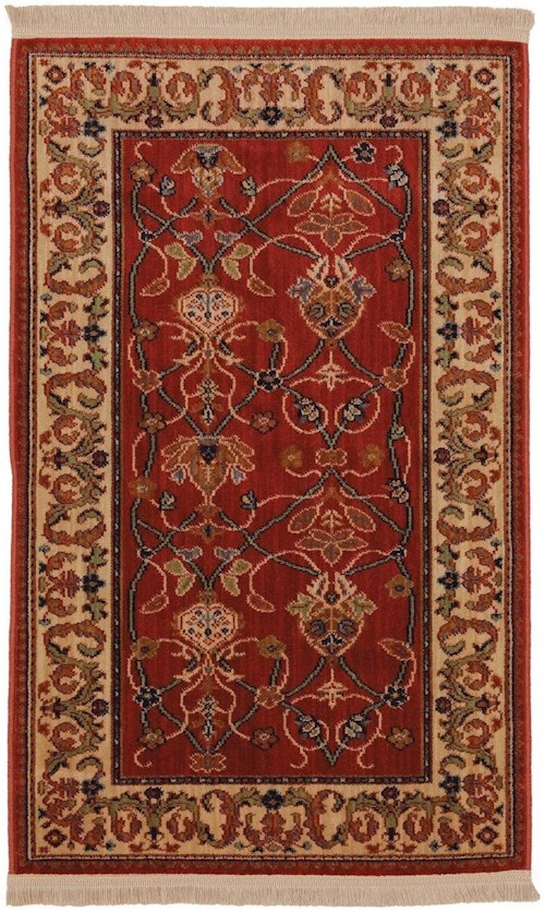 Karastan Rugs English Manor 2'6x8' William Morris Red Rug Runner