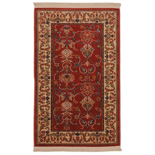 Karastan Rugs English Manor 3'8x5' William Morris Red Rug