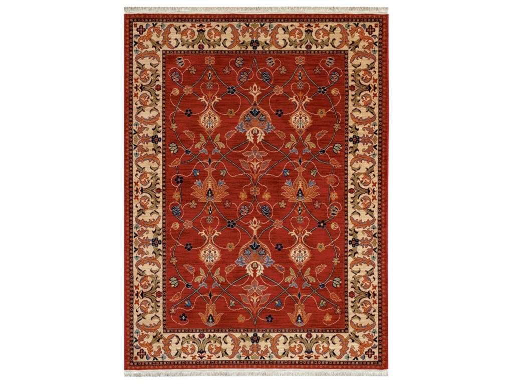 Karastan Rugs English Manor9 2x13 William Morris Red Rug