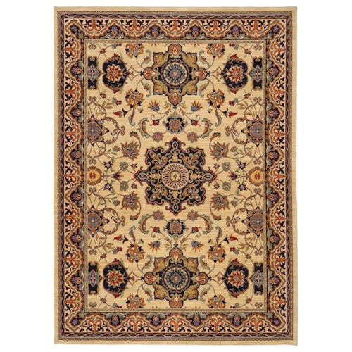 Karastan Rugs English Manor 5'7x7'11 Manchester Ivory Rug