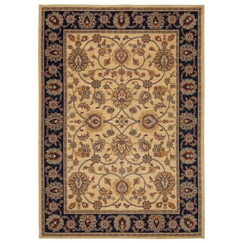 Karastan Rugs English Manor 2'6x8' Oxford Ivory Rug Runner