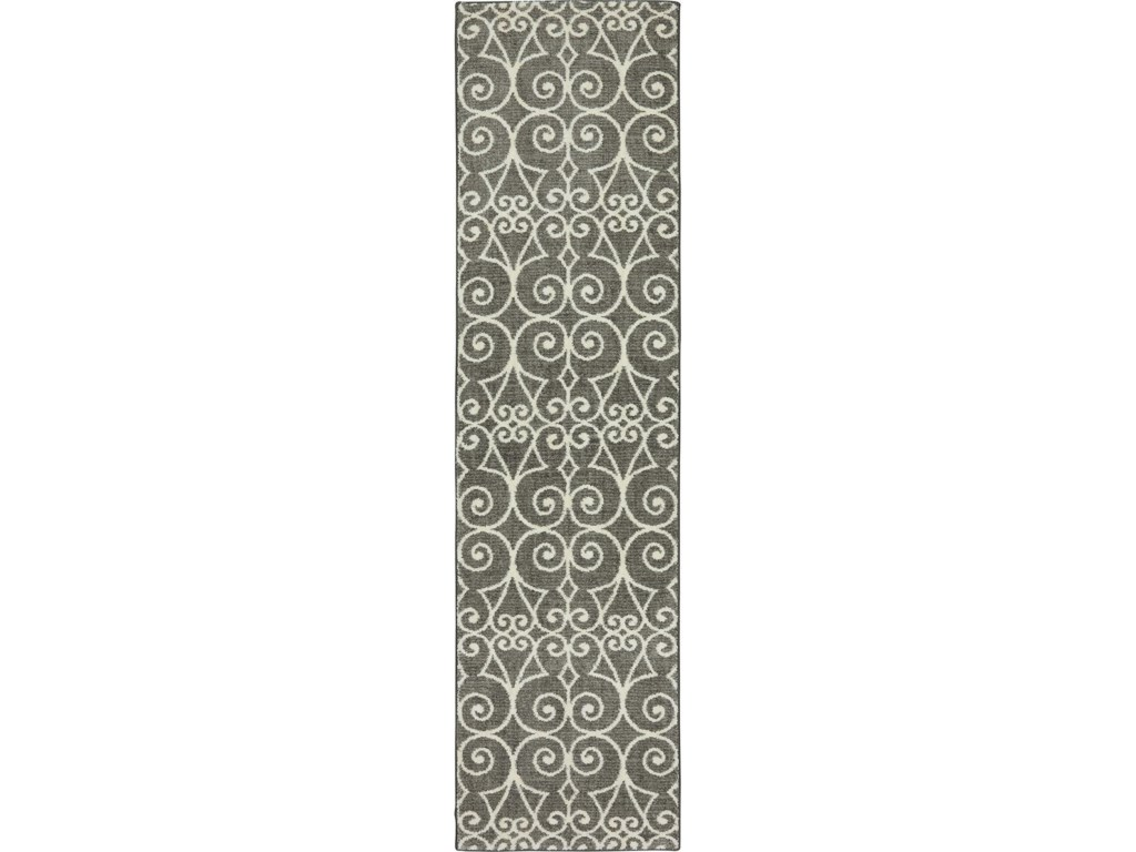 Karastan Rugs Euphoria3'6x5'6 Fasney Ash Grey Rug