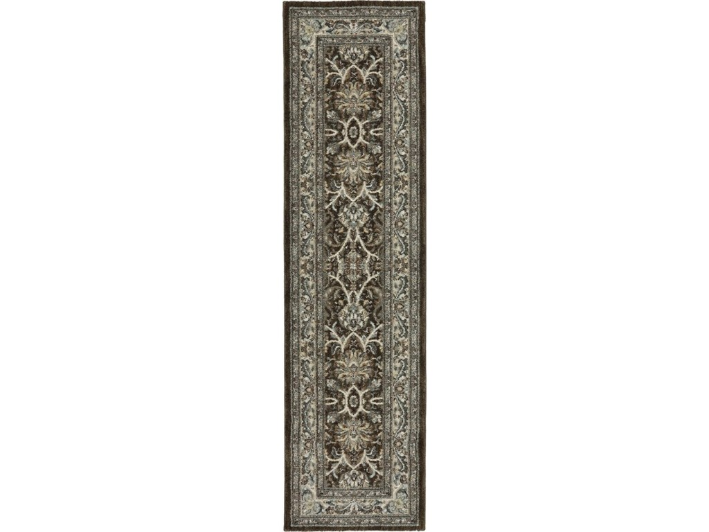 Karastan Rugs Euphoria2'1x7'10 Newbridge Brown Rug Runner