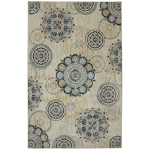 Karastan Rugs Euphoria 3'6x5'6 Carron Sand Stone Rug