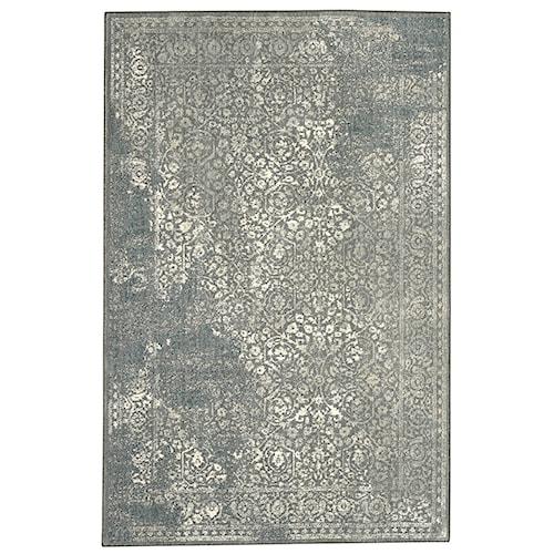 Karastan Rugs Euphoria 5'3x7'10 Ayr Willow Grey Rug