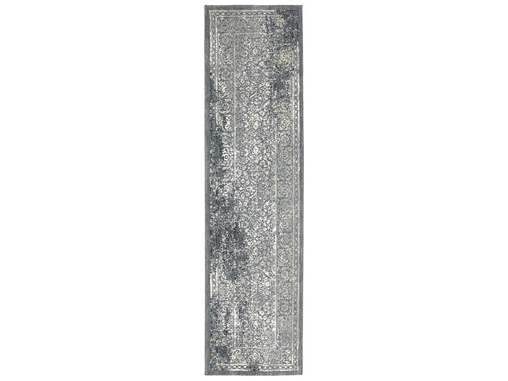 Karastan Rugs Euphoria5'3x7'10 Ayr Willow Grey Rug