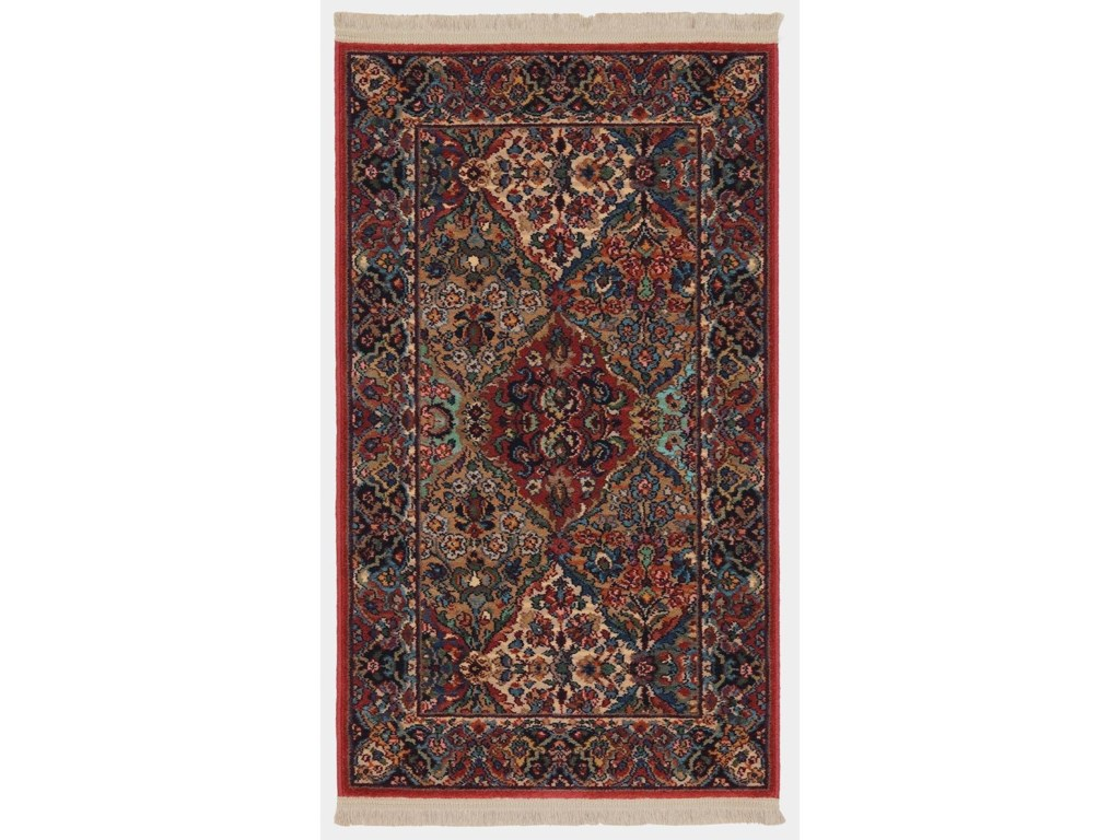 Karastan Rugs Original Karastan2 6x12 Multi Panel Kirman Rug Runner
