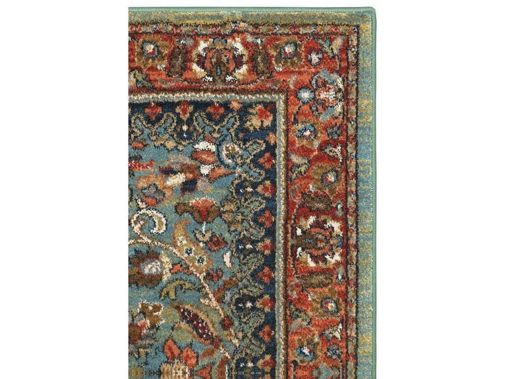 Karastan Rugs Spice Market5'3x7'10 Tigris Aquamarine Rug