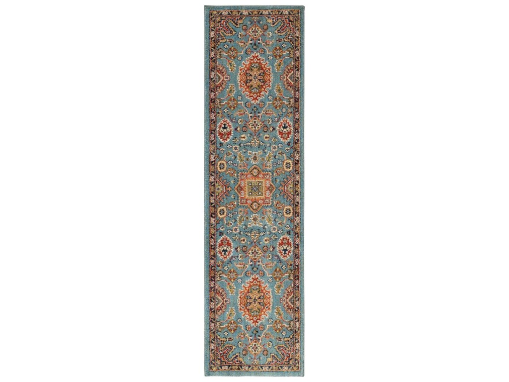 Karastan Rugs Spice Market5'3x7'10 Deir Aquamarine Rug