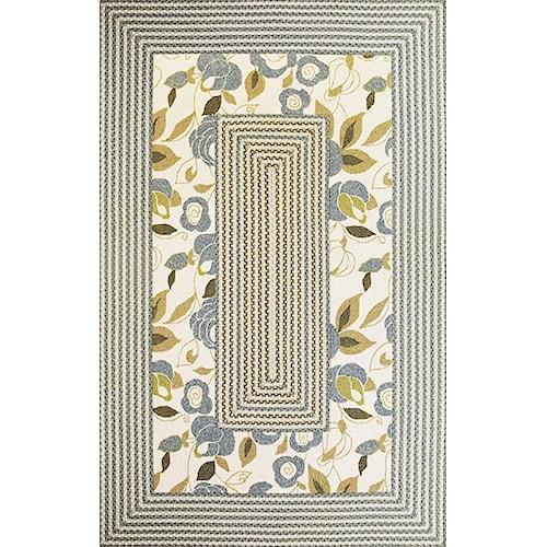 Kas Falmouth 5 x 7.9 Area Rug : Floral