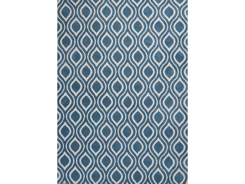 Kas Allure5' X 7' Blue/Ivory Verano Area Rug