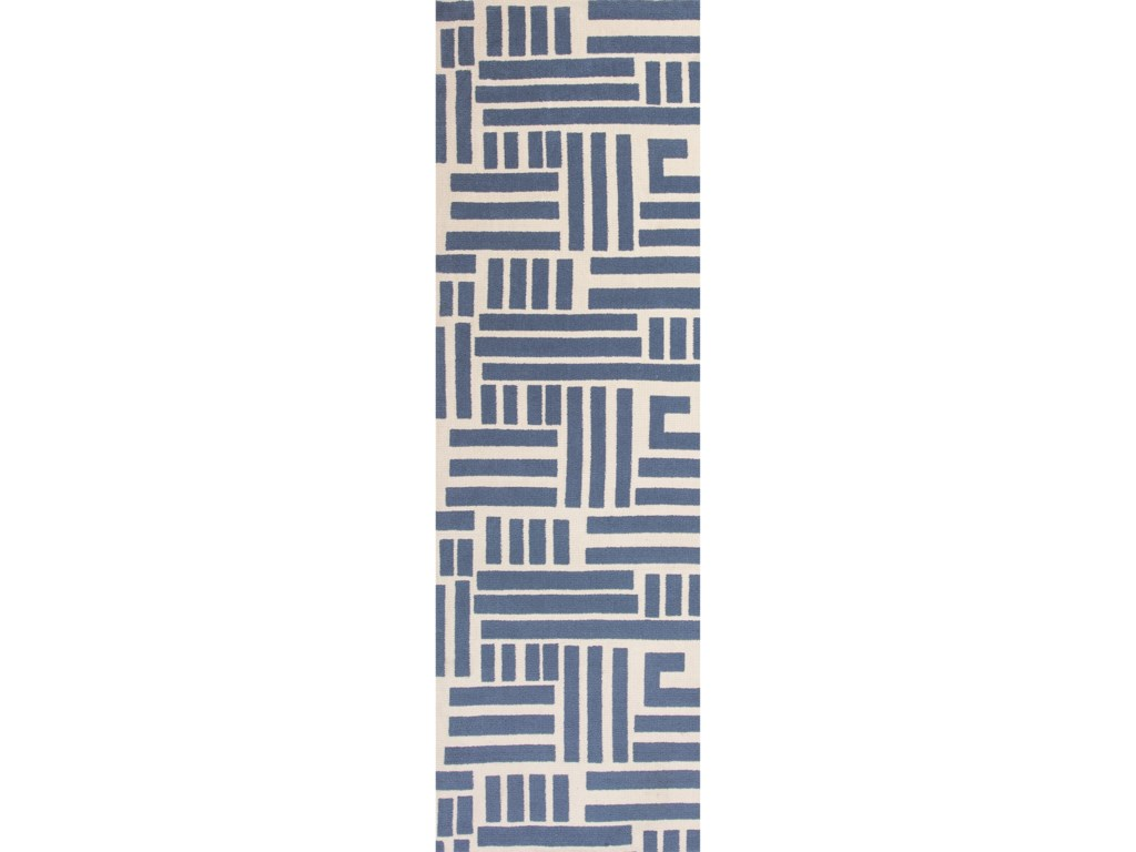 Kas Allure5' X 7' Blue/Ivory Visions Area Rug