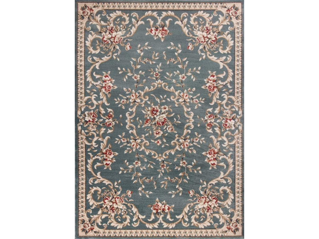Avalon 12 X 9 Slate Blue Aubusson Area Rug