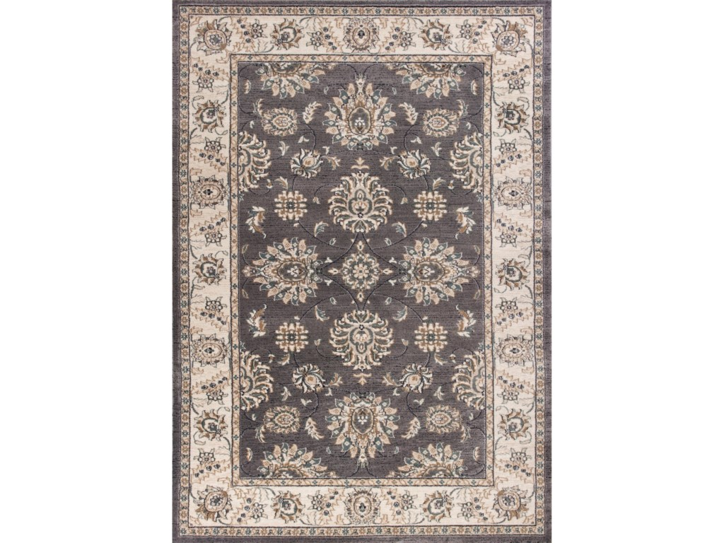 Avalon 7 X 5 3 Grey Ivory Kashan Area Rug