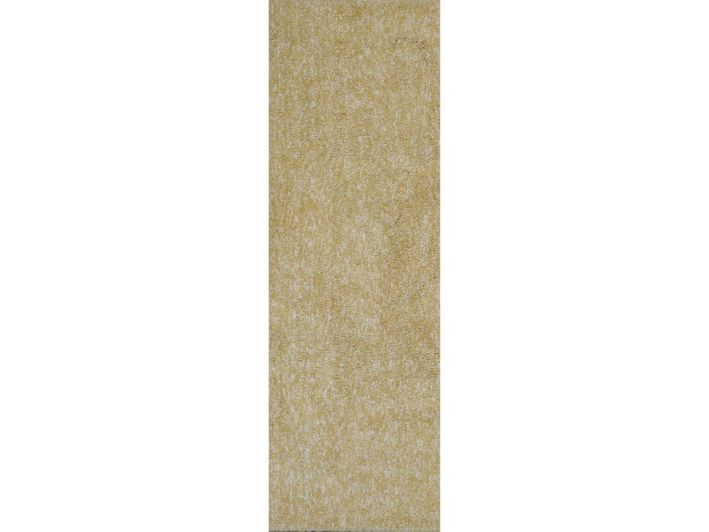Kas Bliss9' X 13' Yellow Heather Shag Area Rug
