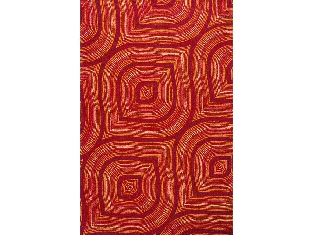 Kas Donny Osmond Home Escape5' X 7' Red Raindrops Area Rug