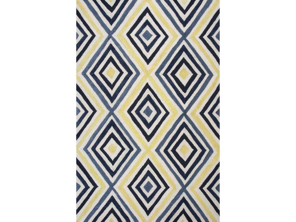 Kas Donny Osmond Home Escape2' X 3' Ivory/Blue Dimensions Area Rug