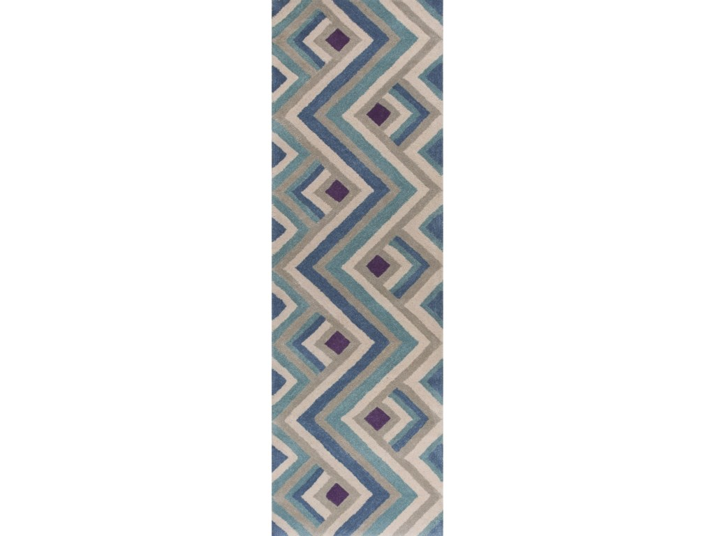 Kas Donny Osmond Home Harmony5' X 8' Ivory/Blue Accents Area Rug