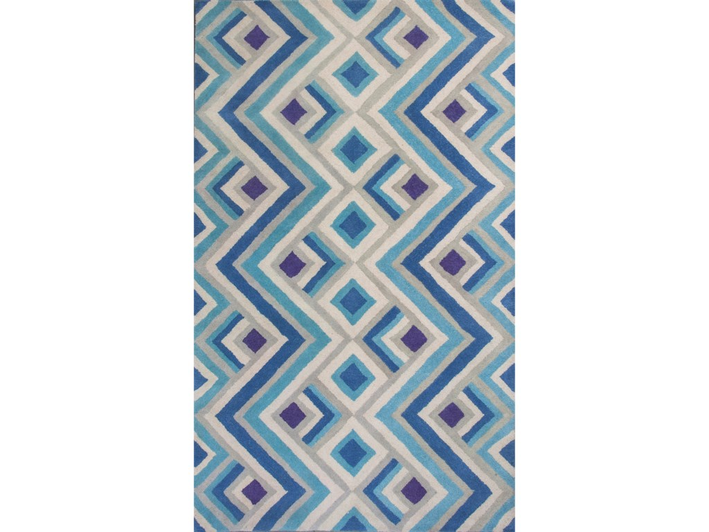 Kas Donny Osmond Home Harmony9' X 13' Ivory/Blue Accents Area Rug