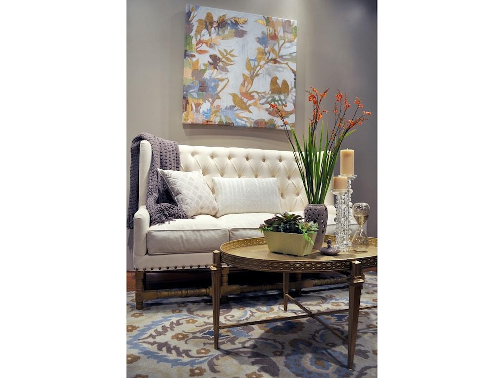 Kas Donny Osmond Home Harmony9' X 13' Sand Tapestry Area Rug