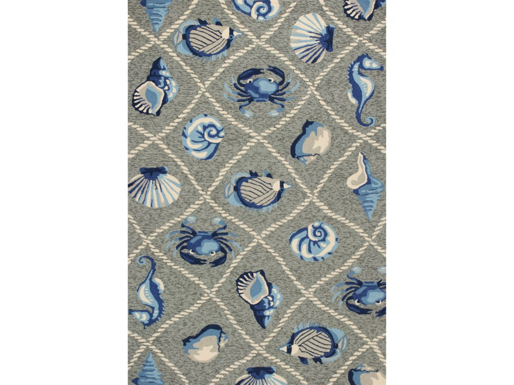 Kas Harbor2' X 3' Grey Seaside Area Rug