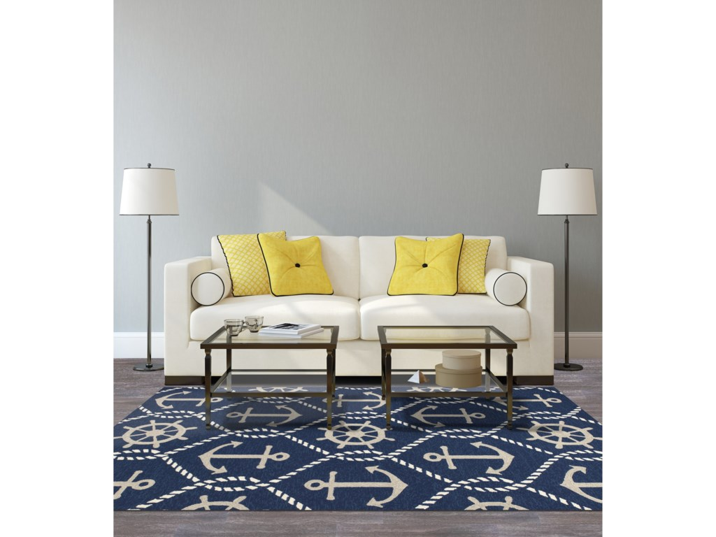 Kas Harbor2' X 3' Navy Marina Area Rug
