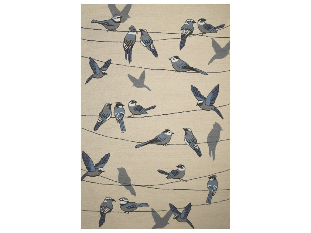 Kas Harbor2' X 3' Ivory Birds On A Wire Area Rug