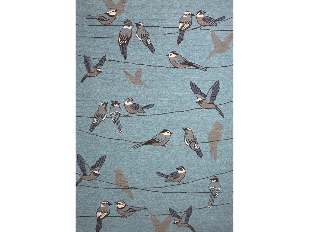 Kas Harbor2' X 3' Blue Birds On A Wire Area Rug