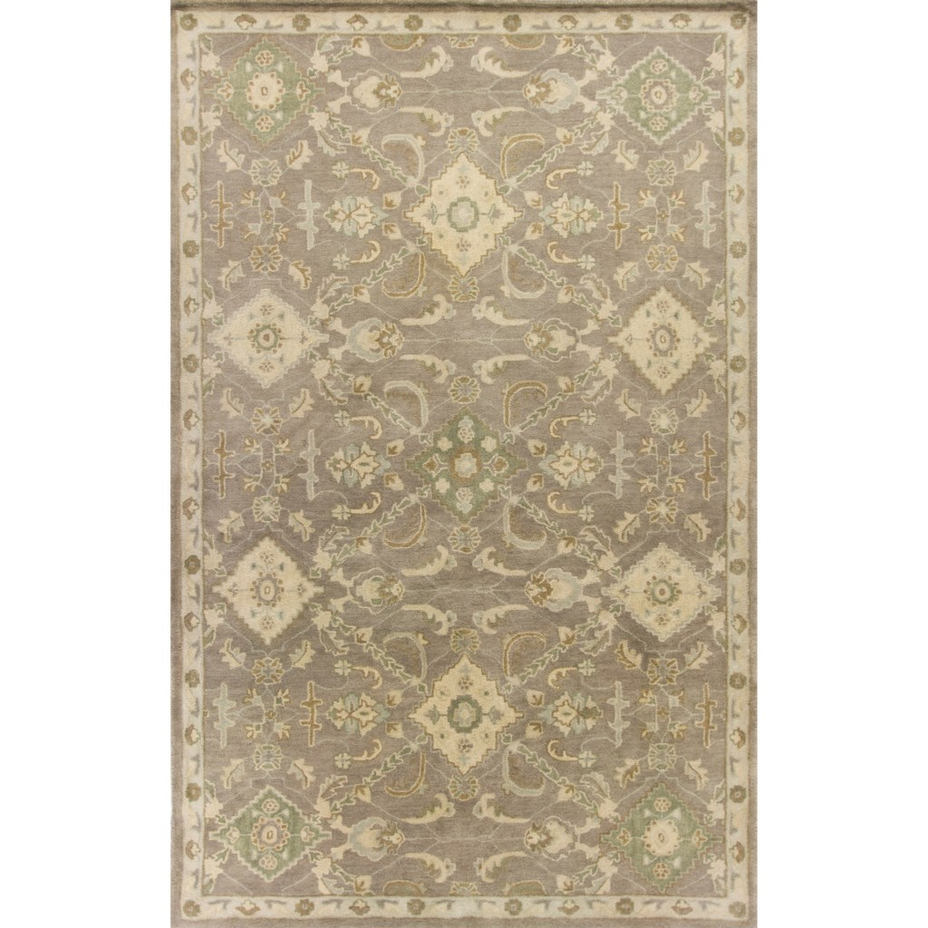 Kas Jaipur 8 X 10 6 Taupe Allover Oushak Area Rug Darvin