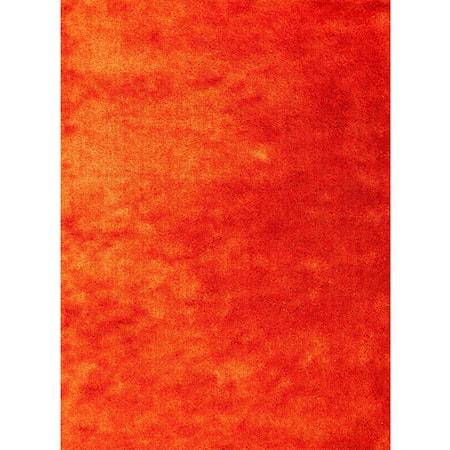 "3'3"" X 5'3"" Sunset Orange Area Rug"