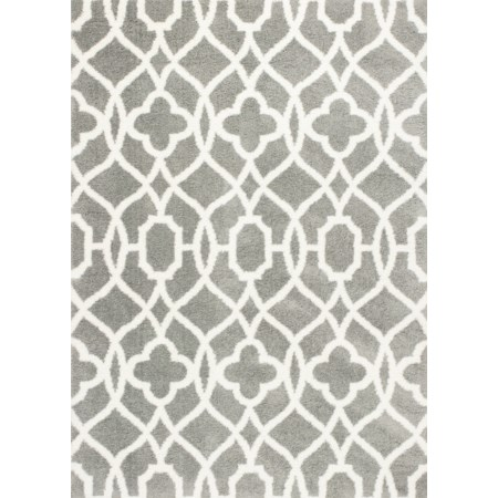 "5'3"" X 7'7"" Grey/Ivory Ironwork Area Rug"