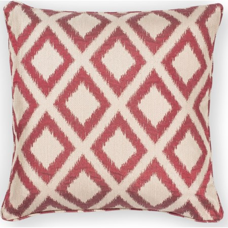"20"" X 20"" Red Diamonds Pillows"