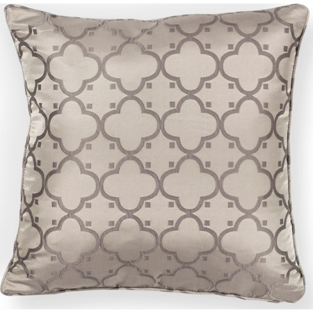 "18"" X 18"" Taupe Filigree Pillows"