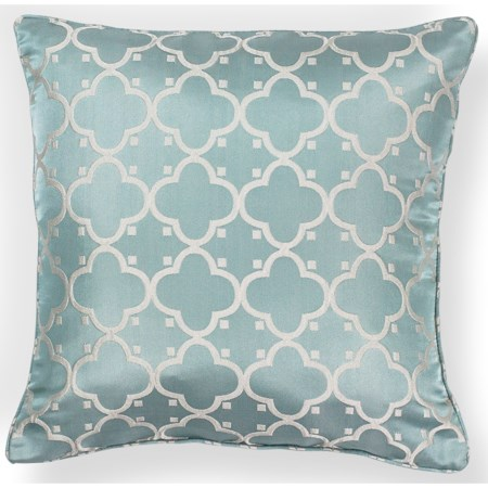 "20"" X 20"" Lt.Blue Filigree Pillows"