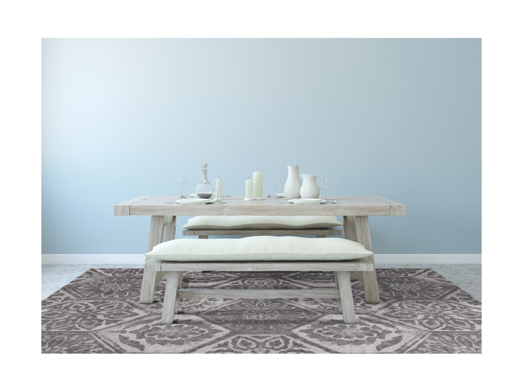 Kas Retreat5' X 7' Grey Mosaic Area Rug