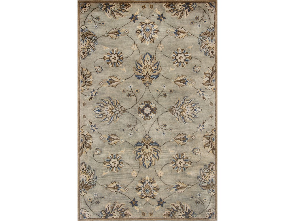 Kas Syriana5'6' X 5'6' Grey Allover Kashia Area Rug
