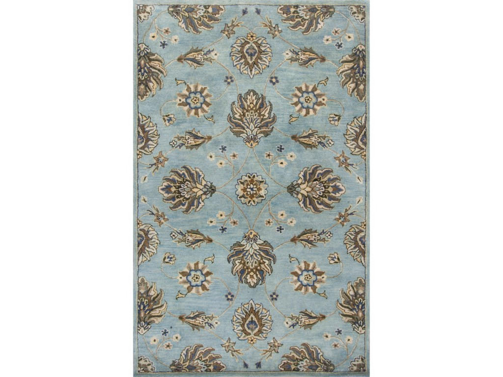 Kas Syriana5'6' X 5'6' Blue Allover Kashia Area Rug