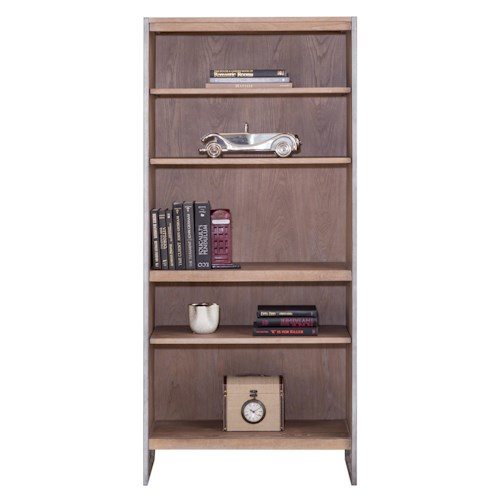 kathy ireland Home by Martin Belmont 4 Shelf Bookcase with Rustic Steel Frame
