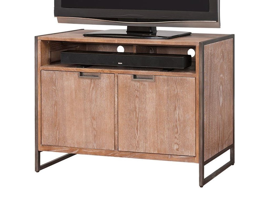 kathy ireland Home by Martin BelmontTV Stand with 2 Doors and Shelf