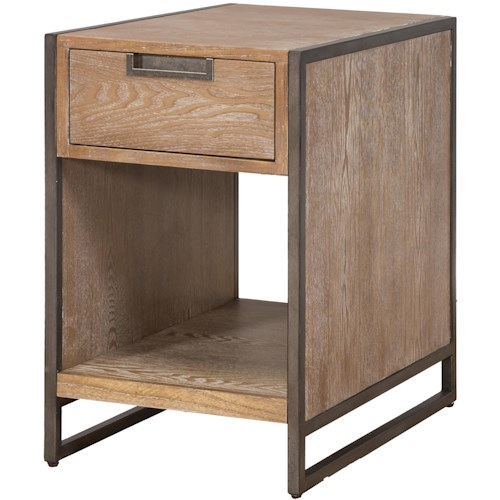 kathy ireland Home by Martin Belmont End Table with Shelf and Drawer