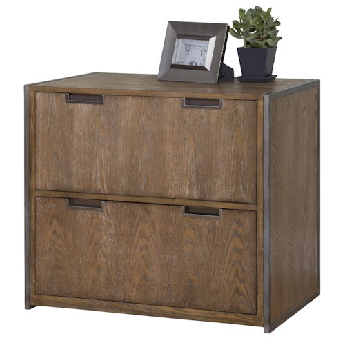 kathy ireland Home by Martin Belmont Lateral File with 2 File Drawers