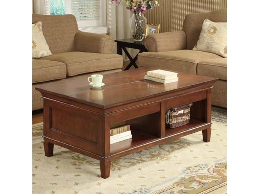 kathy ireland Home by Martin BradleyLaptop Coffee Table with Lift and Slide Top