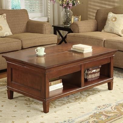 kathy ireland Home by Martin Bradley Laptop Coffee Table with Lift and  Slide Top