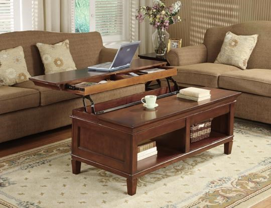 kathy ireland homemartin bradley laptop coffee table with lift