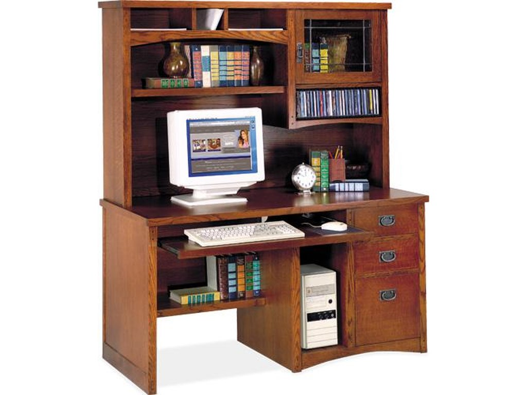 kathy ireland Home by Martin California BungalowDeluxe Computer Desk and Hutch