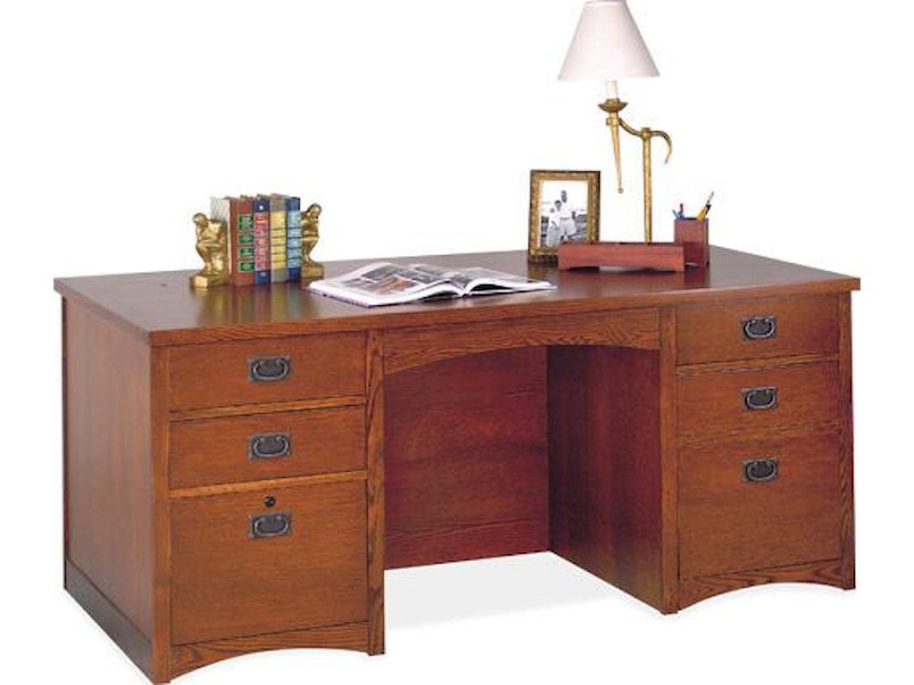 kathy ireland Home by Martin California BungalowDouble Pedestal Executive Desk